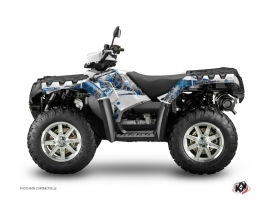 Polaris 550-850-1000 Sportsman Touring ATV VINTAGE POLARIS Graphic kit Grey Blue
