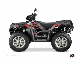 Polaris 550-850-1000 Sportsman Touring ATV VINTAGE POLARIS Graphic kit Black Red