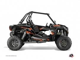 Polaris RZR 1000 Turbo UTV ABSTRACT Graphic kit Grey Orange