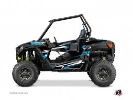 Polaris RZR 900 UTV Abstract Graphic Kit Black Blue
