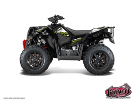 Polaris Scrambler 850-1000 XP ATV ACTION Graphic kit Green