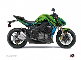 Kawasaki Z 1000 Street Bike AIRLINE Graphic kit Green Blue