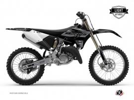 Yamaha 125 YZ Dirt Bike BLACK MATTE Graphic kit Black LIGHT