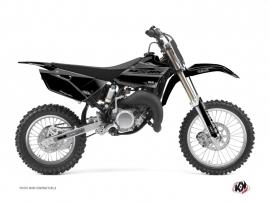 Yamaha 85 YZ Dirt Bike BLACK MATTE Graphic kit Black