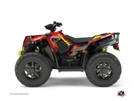 Polaris Scrambler 850-1000 XP ATV BLADE Graphic kit Red Yellow