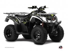 Kymco 250-300 MXU ATV Camo Graphic Kit Black Green