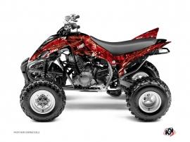 Graphic Kit ATV Camo Yamaha 350 Raptor Red