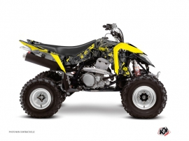 Graphic Kit ATV Camo Suzuki 400 LTZ IE Black Yellow