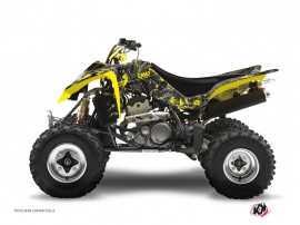 Graphic Kit ATV Camo Suzuki 400 LTZ Black Yellow