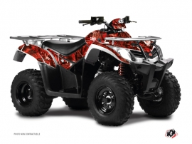 Graphic Kit ATV Camo Kymco 400 MXU Red