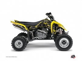 Graphic Kit Quad Camo Suzuki 450 LTR Noir Jaune