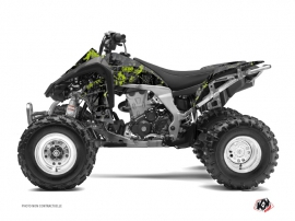 Kawasaki 450 KFX ATV CAMO Graphic kit Black Green