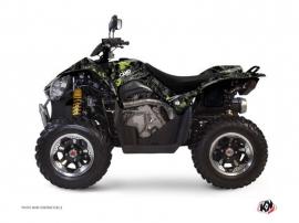 Graphic Kit ATV Camo Kymco 450 MAXXER Black Green