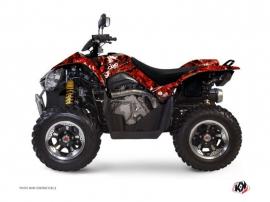Graphic Kit ATV Camo Kymco 450 MAXXER Red