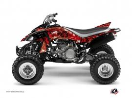 Yamaha 450 YFZ ATV CAMO Graphic kit Red
