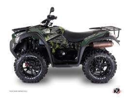 Kymco 550-700 MXU ATV Camo Graphic Kit Black Green