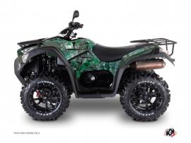 Kymco 550-700 MXU ATV Camo Graphic Kit Green