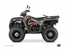 Polaris 570 Sportsman Forest ATV CAMO Graphic kit Black Red