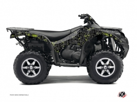 Kawasaki 650 KVF ATV CAMO Graphic kit Black Green