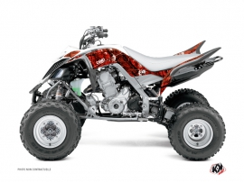 Yamaha 700 Raptor ATV Camo Graphic Kit Red