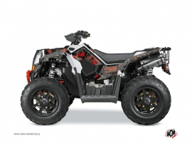 Polaris Scrambler 850-1000 XP ATV CAMO Graphic kit Black Red