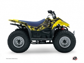 Graphic Kit ATV Camo Suzuki 90 LTZ Black Yellow
