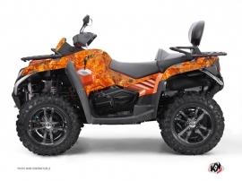 Graphic Kit ATV Camo CF Moto CFORCE 800 S Orange