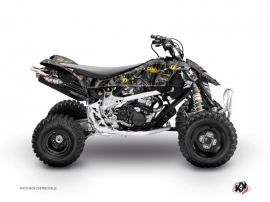 Graphic Kit ATV Camo Can Am DS 90 Black Yellow