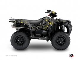 Suzuki King Quad 750 ATV CAMO Graphic kit Black Yellow