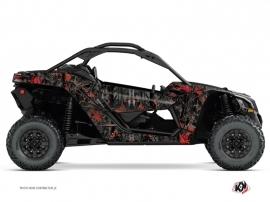 Can Am Maverick X3 UTV Camo Graphic Kit Black Red