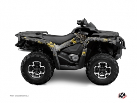 Graphic Kit ATV Camo Can Am Outlander 1000 Black Yellow