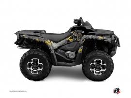 Graphic Kit ATV Camo Can Am Outlander 400 MAX Black Yellow