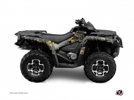 Graphic Kit ATV Camo Can Am Outlander 400 XTP Black Yellow