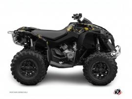 Graphic Kit ATV Camo Can Am Renegade Black Yellow