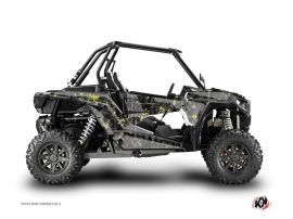 Graphic Kit UTV Camo Polaris RZR 1000 Black Yellow
