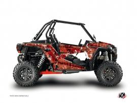 Graphic Kit UTV Camo Polaris RZR 1000 Turbo Red