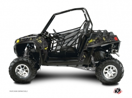 Graphic Kit UTV Camo Polaris RZR 800 Black Yellow