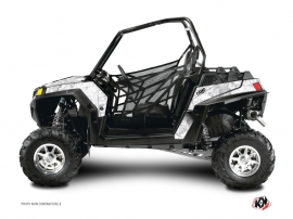Graphic Kit UTV Camo Polaris RZR 800 S White