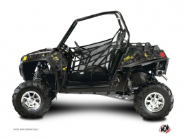 Graphic Kit UTV Camo Polaris RZR 800 S Black Yellow