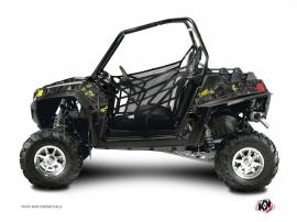Graphic Kit UTV Camo Polaris RZR 900 XP Black Yellow