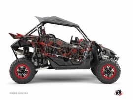 Yamaha YXZ 1000 R UTV CAMO Graphic kit Black Red