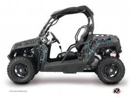 Graphic Kit UTV Camo CF Moto Z Force 1000 Black Blue