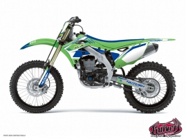 Kawasaki 250 KXF Dirt Bike Chrono Graphic Kit Blue