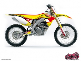 Suzuki 250 RMZ Dirt Bike CHRONO Graphic kit Red