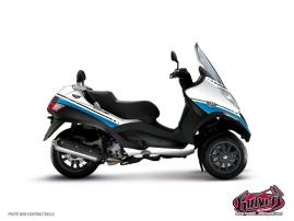 Graphic Kit Maxiscoot Cooper Piaggio MP 3 White Blue