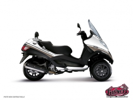Graphic Kit Maxiscoot Cooper Piaggio MP 3 White Brown