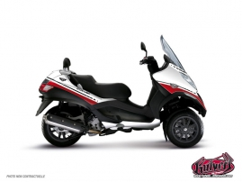 Graphic Kit Maxiscoot Cooper Piaggio MP 3 White Red