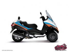 Graphic Kit Maxiscoot Cooper Piaggio MP 3 Blue Orange