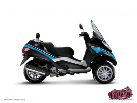 Graphic Kit Maxiscoot Cooper Piaggio MP 3 Blue