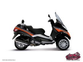 Graphic Kit Maxiscoot Cooper Piaggio MP 3 Orange
